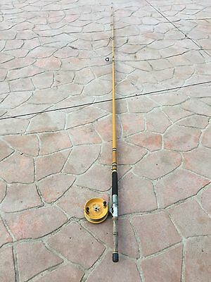 Vintage Fishing Rod Beachcomber 3.7metres Long With Alvey Reel