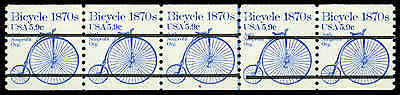 US #1901a Pl. 6  5.9¢ Bike PS5 PNC5, XF-Superb NH MNH