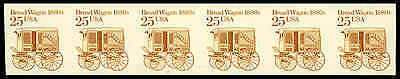 US #2136a-Pl. 2  25¢ Bread Wagon imperf PS6 PNC6, VF NH MNH