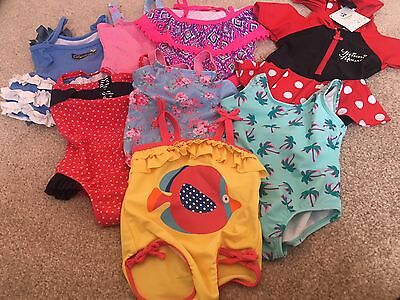 Baby Girl Swimming Costume  Bundle 9-12 Months