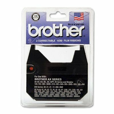 Usa Seller Brother 1030 Correctable Ribbon For Daisy Wheel Typewriter 2 Ribbons