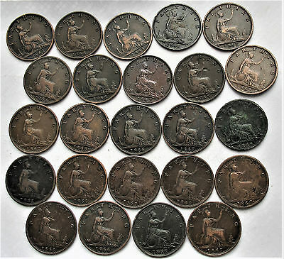 29  X  Queen Victoria  Collection Of 1860 Period Farthing  -- All  In 1860's