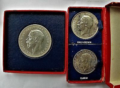 King George V Royal Mint Coin Set - Three Coins  -  None Known Like This  !!!