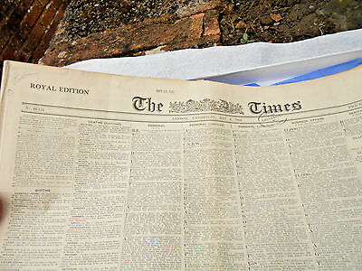 The Times Original Newspaper 4th May 1932 with certificate Boxed