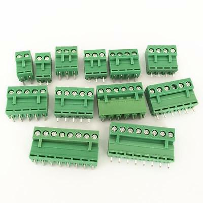 HT-5.08 Green Straight / Right Angle Terminal Block Connector 5.08mm Pitch 2P-8P