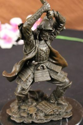 Fine Vintage Japanese Bronze Figure Of A Samurai Warrior Hot Cast Sculpture BM