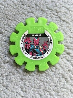 2017 Woolworths Marvel Heroes Collector Green Super Disc #41 Vision