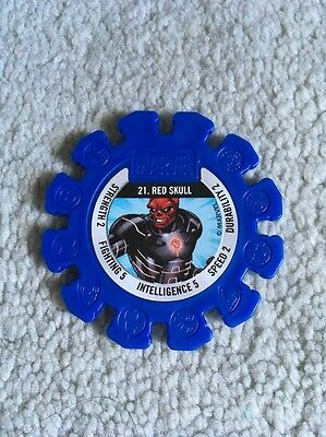 2017 Woolworths Marvel Heroes Collector Blue Super Disc #21 Red Scull