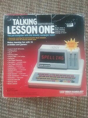 Vintage Talking Lesson One. 1988. Perfect working Order.