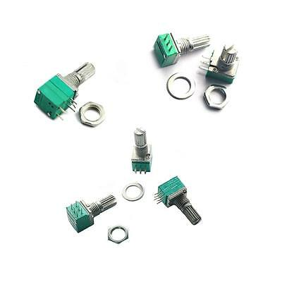 Audio Amplifier Sealed Single/Double Potentiometers 15mm Shaft & Nut Washer New
