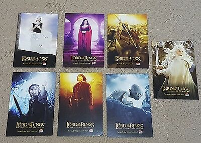Lord of the Rings Collectible Post Cards x 7