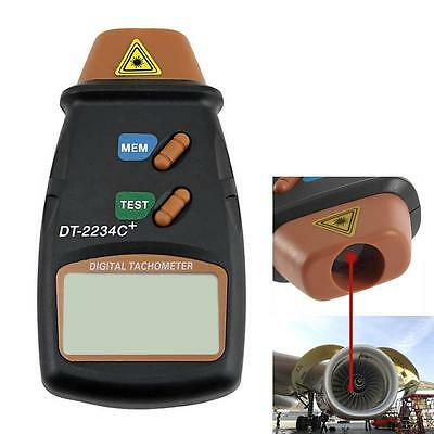 Handheld LCD Digital Laser Photo Tachometer Non Contact RPM Tach Tester Meter CB