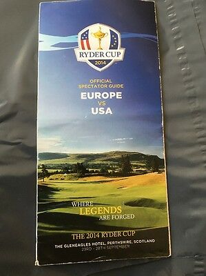 Ryder Cup Golf 2014 Official Spectator Guide Gleneagles Scotland