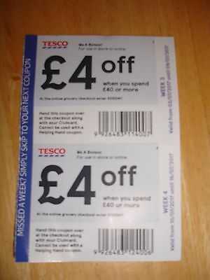 Tesco e coupons and vouchers