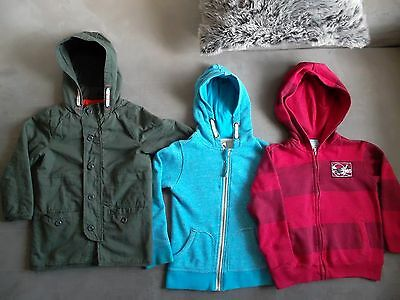 Size 6 Boys Jacket Coat, Hoodie Top, Excellent Condition. 3 Items.