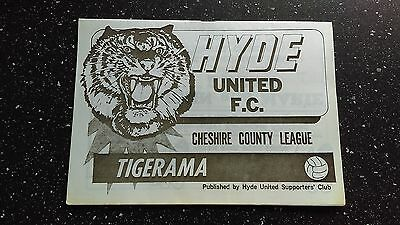 Hyde United V Fleetwood Town 1981-82