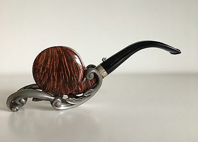 """Pfeife L'ANATRA """"Two Eggs"""" silver band Blowfish contrast pipe RARE NEW UNSMOKED!"""