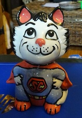 Lorna Bailey Pottery SUPERCAT the cat Excellent Condition FREE P&P #