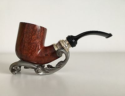 """Pfeife SER JACOPO """"Pulchra L1"""" solid decorated band pipe. RARE NEW UNSMOKED!"""