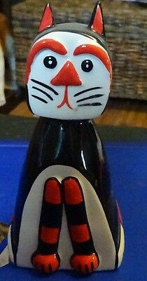 Lorna Bailey Pottery DENNIS the CAT Excellent Condition FREE P&P %