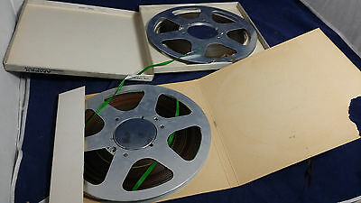 "Lot of 2 x unbranded Metal 10.5"" inches Reel to Reel spools, used tapes."