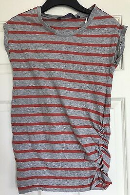 New Look Maternity Grey Stripe Top. Size 8