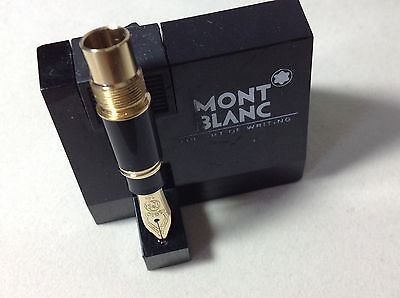 "MONTBLANC PART Pen Meisterstuck MOZART 114 Complete NIB Fountain Black With ""B"""
