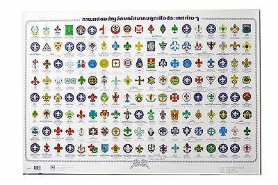 Poster Thai style Picture Shows The logo Scouts Around The World Size 61X 90cm.