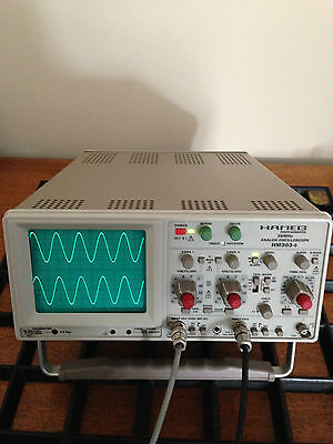 Hameg 303-6 35MHz Oscilloscope + Brand New Probes, Mains Lead & Printed Manual.