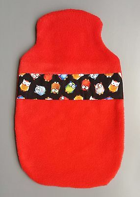 Hot Water Bottle Cover Hand Made- Fleecy Owls