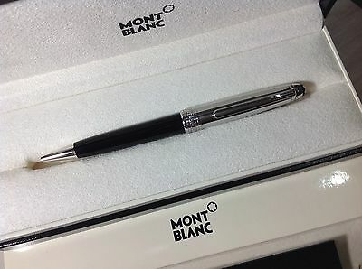 MONTBLANC PEN Meisterstuck 164 SOLITAIRE Doue' With Cap in STEEL BALLPOINT BOX