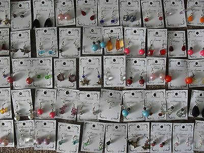 Wholesale Clearance Job Lot 50 Pairs Earrings Lucky Dip, Fundraising Carboot