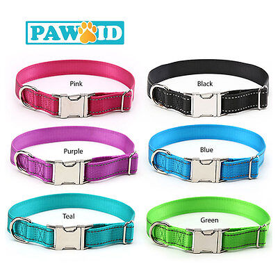 Quality Custom Engraved Pet ID Collar for Dogs & Cats, Free Engraving+Shipping