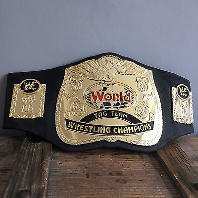 Vintage WWE WWF  WORLD TAG TEAM CHAMPIONS Kids Wrestling Belt JAKKS 2000