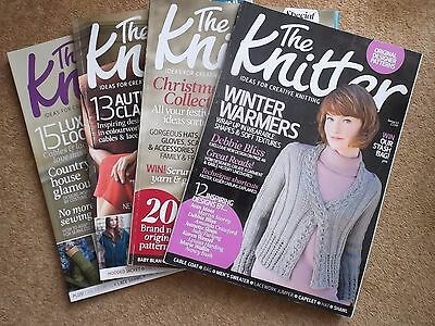 Job lot of The Knitter magazines x 4