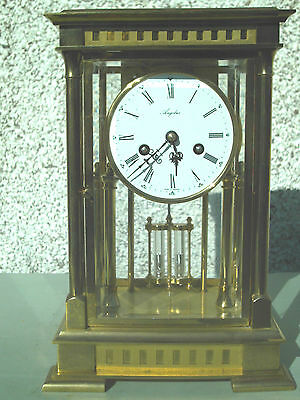 Rare Antique Large Brass Angelus Pendulum Regulator Mantel Clock