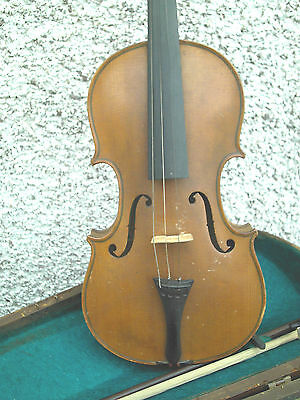 Antique Klotz  1/2 Size Violin &  Bow With Case
