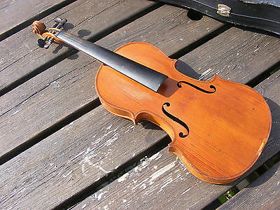 Antique  4/4  Violin German Labeled Gp&s 503 With   Case