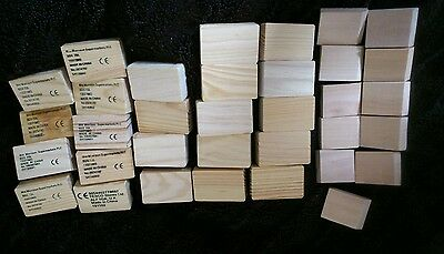 WOODEN BLOCKS x 34 For crafts, models FREE P&P (SEE NOTES)
