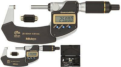 Mitutoyo 293-146 Quantumike Coolant Proof Lcd Micrometer, Ip65, Ratchet Thimble,