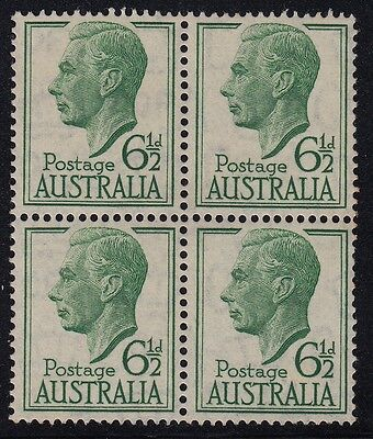 1950-52 KGVI 6 different issues in blocks of 4, mnh & some tone