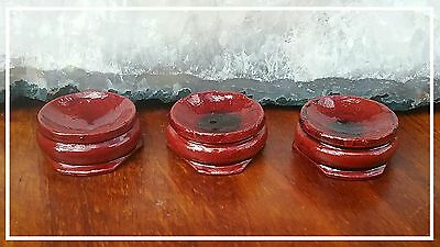Wooden gemstone stands for sphere or egg  (3 stands)