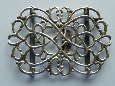 Vintage 1971 Solid Hallmarked Silver Nurses Belt Buckle 34.2g
