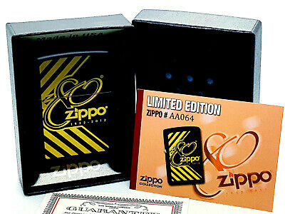 New/Rare ZiPPO Lighter 80 th ; 80th anniversary Gold 1932-2012 Limited edition