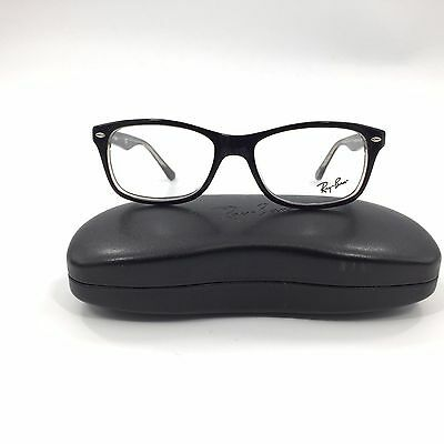 New Ray-Ban Rb 5228 Eyeglasses Frame Made Italy Black Clear 53Mm Optical