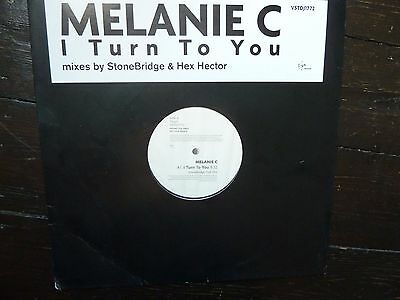 "MELANIE C I Turn To You MEL UK PROMO VINYL 12"" DOUBLE 2 SPICE GIRLS Remixes RARE"
