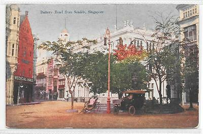 Singapore Printed Postcard Of Battery Road From Seaside