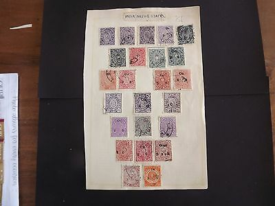Lot 81 Antique Stamp Album  Page  Indian Native States Travancore Chuckrams