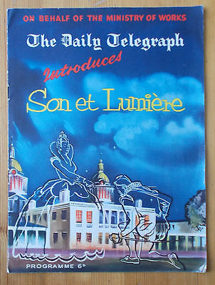 Son Et Lumiere programme Greenwich Laurence Olivier 1957 The Daily Telegraph