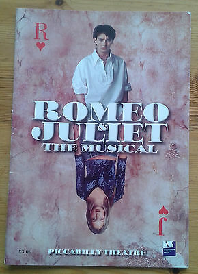 Romeo & and Juliet programme Piccadilly Theatre ~2003 Andrew Bevis Lorna Want
